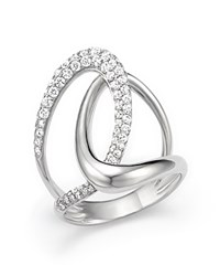 Bloomingdale's Diamond Statement Ring In 14K White Gold .85 Ct. T.W.