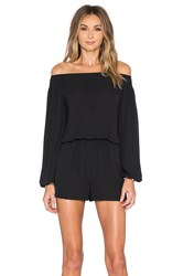 Eight Sixty Off The Shoulder Romper Black