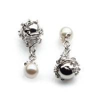 Kasun Orb And Ivory Pearl Cufflinks Silver
