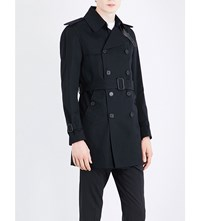 Sandro Double Breasted Cotton Trench Coat Black