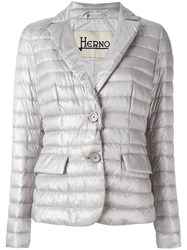 Herno Two Button Puffer Jacket Nude Neutrals