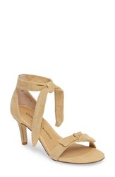 Chinese Laundry Women's Rhonda Ankle Tie Sandal Yellow Suede