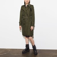 Coach Icon Trench With Rivets Fern