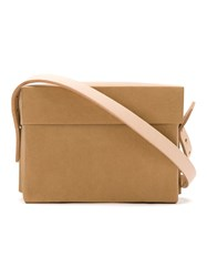Gloria Coelho Paper Bag With Leather Straps Brown