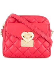 Love Moschino Quilted Crossbody Bag Red