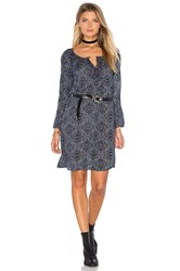Velvet By Graham And Spencer Yani Long Sleeve Shift Dress Navy