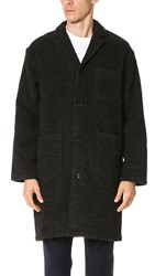 Camo Ribot Heavy Boucle Wool Coat Gray