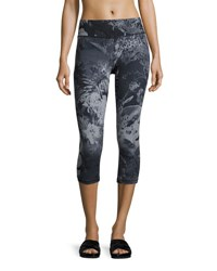 The North Face Motivation Printed Crop Sport Leggings Black Pattern