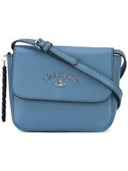 Vivienne Westwood Anglomania Flap Crossbody Bag Women Leather One Size Blue