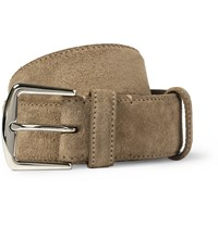 Loro Piana 3.5Cm Sand Suede Belt Brown