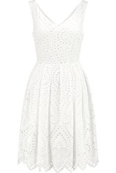 Ainea Broderie Anglaise Cotton Dress White