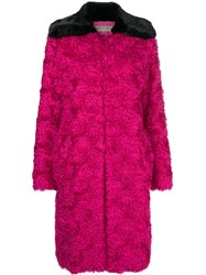 Emilio Pucci Contrast Oversized Coat Pink And Purple