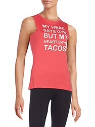 Corner Shop Gym Heart Tacos Muscle Tank Cherry