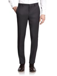 J. Lindeberg Paulie Patterned Wool Trousers Charcoal