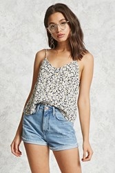 Forever 21 Daisy Print Buttoned Cami