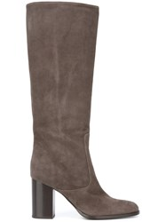 Veronique Branquinho Knee High Boots Grey