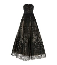 Jovani Lace Ball Gown Female Black