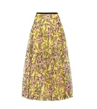 Red Valentino Silk And Cotton Printed Skirt Multicoloured