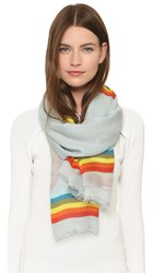 Anya Hindmarch Rainbow Scarf Light Blue Rainbow