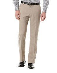 Perry Ellis Big And Tall Textured Flat Front Suit Pants Natural Linen