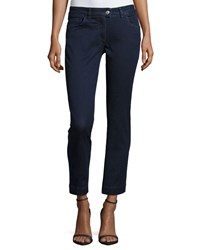 Piazza Sempione Five Pocket Cropped Jeans Navy