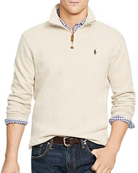 Polo Ralph Lauren French Rib Half Zip Pullover Expedition Dune Heather