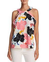 Cooper And Ella Senna Ruffled Floral Print Tank Multi Big Blooms