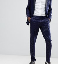 Heart And Dagger Tuxedo Skinny Suit Trousers Navy