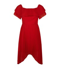 Keepsake Seasons Off The Shoulder Pleated Dress Female Red