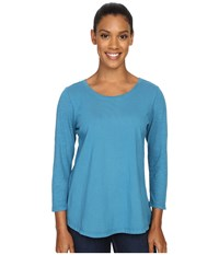 Woolrich First Forks 3 4 Sleeve Shirt Seaport Women's Long Sleeve Pullover Blue