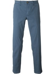 Jacob Cohen Printed Chino Trousers Blue