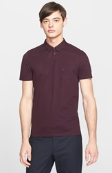 The Kooples Sport Cotton Polo Burgundy