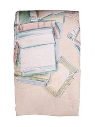 Trussardi Book Collection Printed Cotton Blanket