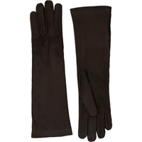 Barneys New York Cashmere Lined Long Gloves Dk.Brown
