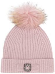 Max And Moi Pom Pom Cap Pink And Purple
