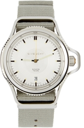 Givenchy Grey And Silver Seventeen Watch