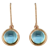 London Road Pimlico Bubble 9Ct Rose Gold Drop Earrings Topaz