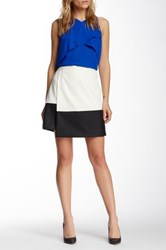Vince Camuto Faux Leather Hem Wrap Skirt White