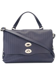 Zanellato Medium 'Postina' Tote Blue