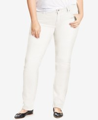 Levi's Plus Size 414 Relaxed Fit Straight Leg Jeans Soft Clean White