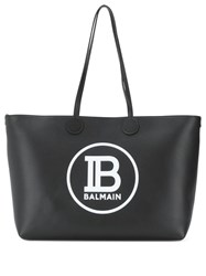 Balmain Medium Shopping Tote Bag Black