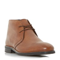 Howick Coalman Round Toe Lace Up Boots Tan