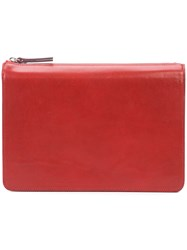 Maison Martin Margiela Zipped Clutch Bag Red