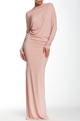 Issue New York Dolman Sleeve Backless Gown Pink