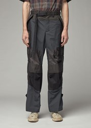 Sacai 'S Fabric Combo Pant In Black Size 1 Cotton Polyester Paneling