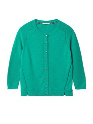 White Stuff Lagoon Button Cardi Field Green