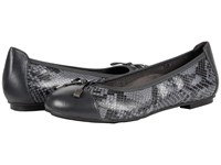 Vionic Spark Minna Ballet Flat Grey Snake Women's Flat Shoes Gray