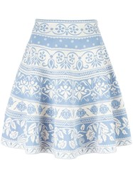 Alexander Mcqueen Jacquard Knit Mini Skirt White