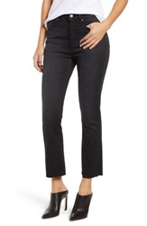 Leith High Rise Crop Flare Jeans Washed Black