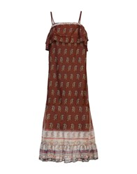 Vicolo Long Dresses Cocoa